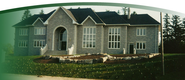nice home with front lawn sod in Alliston | High on Grass!